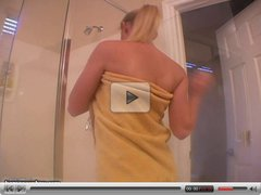 Hot amateur blonde in shower
