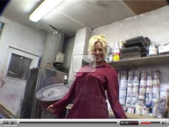 Michelle Thorne masturbates in a garage
