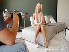 Busty Blonde Wife Sucks Cock In Porn Tryout