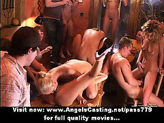 Adorable wonderful superb ladys having an orgy on a party