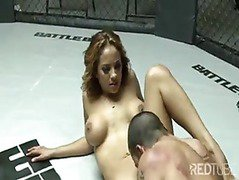Latin couple cage sex
