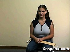 Wild Naughty Gal In Amazing Spanking Teen