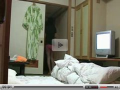 Naughty Japanese Wife Flashes TV Repairman