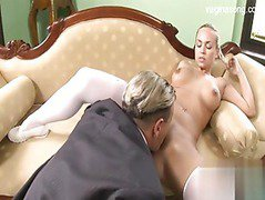 Hot blonde wants her boss so bad
