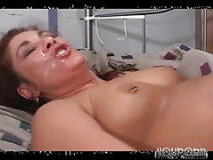 Red head slut milf fucked by a group of friends