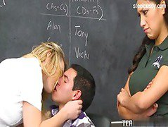 Both teens wanted to fuck the teacher
