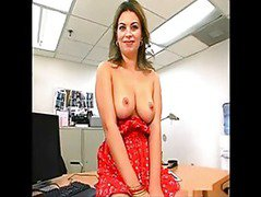 Cheery MILF fucked at the office