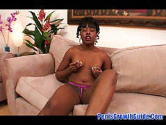 Black MILF Lailoni Ballixxx sucks black cock