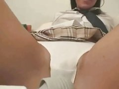 Skinny Latina Schoolgirl takes it all on her tongue ctoan
