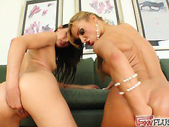 Cindy fists Bonnie's ass in this once in a lifetime video! Bonnie squirts like crazy after the fisting. Both girls fist themselves simultaneously at the end