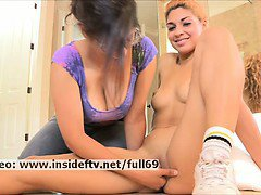 Valentina _ Amateur babe gets her pussy pleased by a busty girl