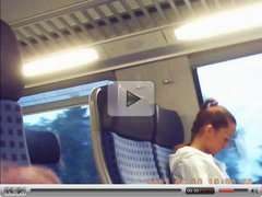 Train Masturbation in front of Russian Girl