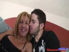 Hot Spanish MILF fucked by young man