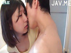 Japanese cutie getting her pussy drilled hard