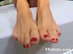 Smothering Foot Fetish Girl Softly Fucked