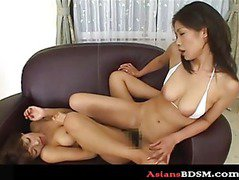 Sexy Asian lesbian domination with the works p2