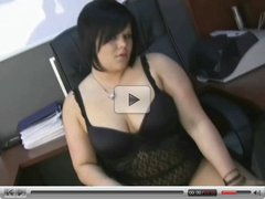 Amateur Latina BBW Plays With Big Dildo