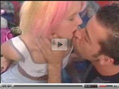Cute teen with pink highlights gets fucked (90's)