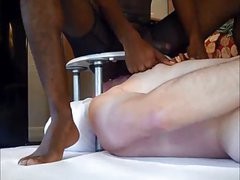 White Slave worships Hung Black Master