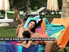 Isabella and Billy lovely lesbo babes licking