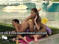 Isabella and Jaquelin lovely lesbo girls fingering