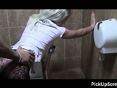Hot blonde babe gets picked up on the part3