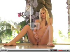 Kristina,naked blonde babe on the floor!!