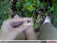 Jerking, moaning and shooting cum in the forest 2