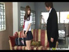 AzHotPorncom - Kisses and Fucking With a Girl in Uniform