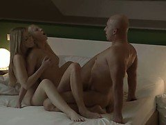 obscenely erotic blondes FFM threesome