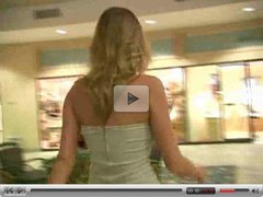 Carli,teen blonde girl walking through shopping mall!!