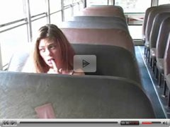 Girl Plays on Bus