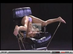 Asian Tied Led On A Rope And Toyed