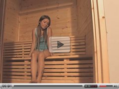 Emily naked in the sauna