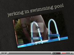 koen wauters jerking in swimming pool