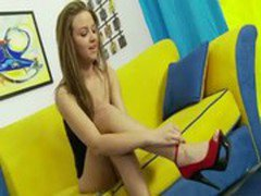 Amateur step daughter fingered and licked