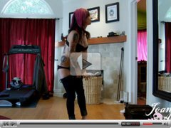 Joanna Angel strips naked and gets her ass hole fingered