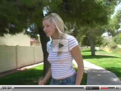 Kylee,blonde babe public possing!!