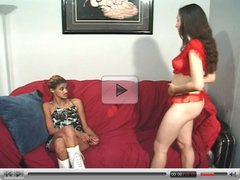 LATINA AND EBONY LESBIAN PLAY WITH DILDO...usb