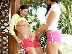 Ultra huge dildo of breasty babes