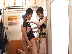 Train ride threesome
