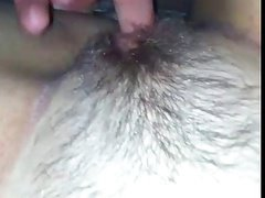 Fingering her pussy untill she gets very wet