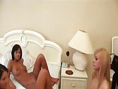 Two lesbian teens caught by MILF