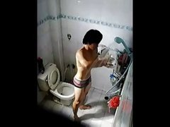asian men wank in bath with hidden cam captured