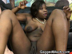White Guys Pumping Black Girls Face In Threesome