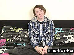 Gay movie of Hot emo Jack is fresh to porn, so he is shy at first,