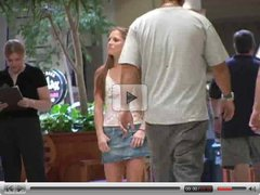 Emma,amazing blonde babe goes into a shopping mall!!