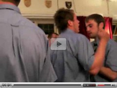 English guys stripping at a party