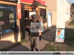 Cute Blond Milf picking up a Black Fella