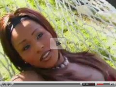 Lingeried Black Tranny Banged Outside